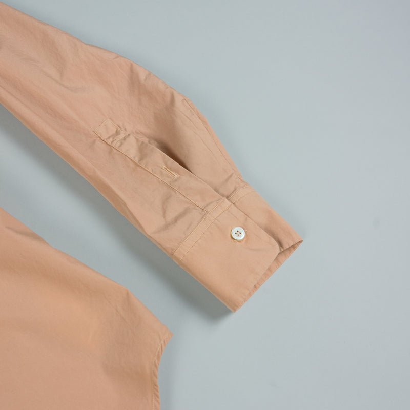Sleeve detail of Maison Margiela Garment Dyed Ash-Rose Button-Down at ROOTED