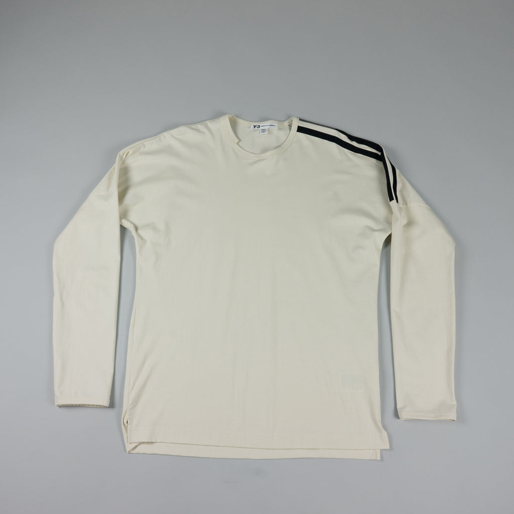 Y-3 Stripes L/S T-Shirt [Undyed/Black]