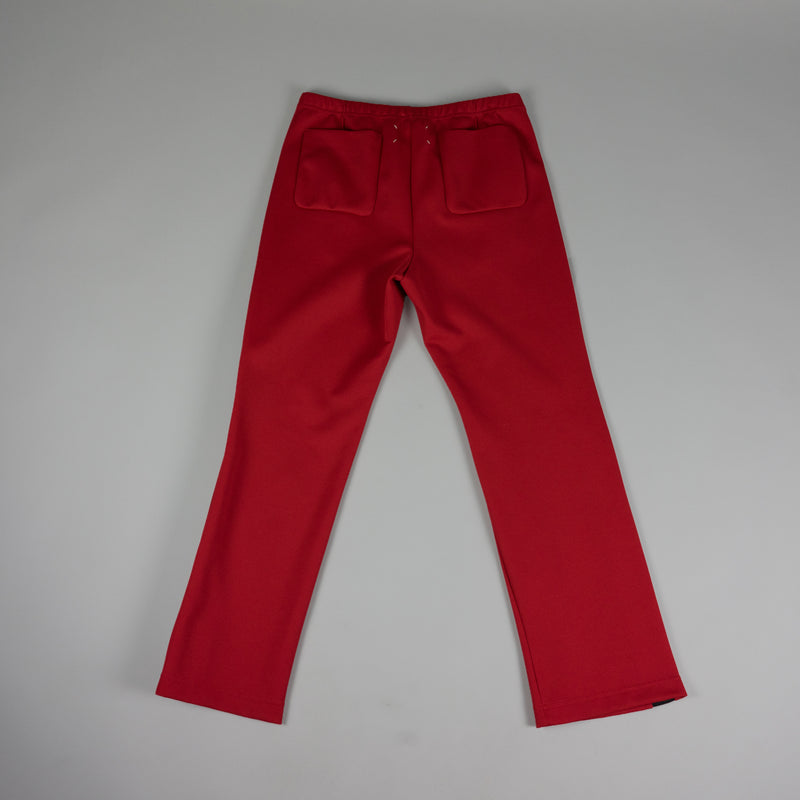 Back of Maison Margiela Loose Fit Track Pant in Red at ROOTED