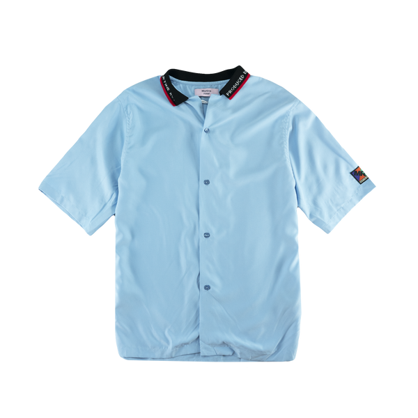 Martine Rose Rib Collar S/S Shirt [Blue]