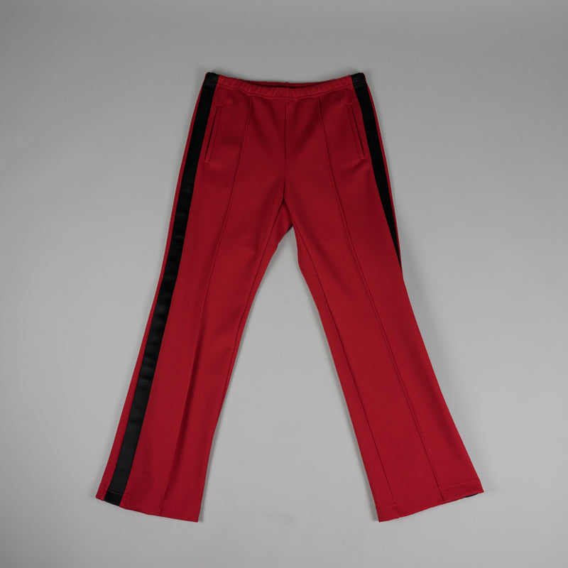 Front of Maison Margiela Loose Fit Track Pant in Red at ROOTED