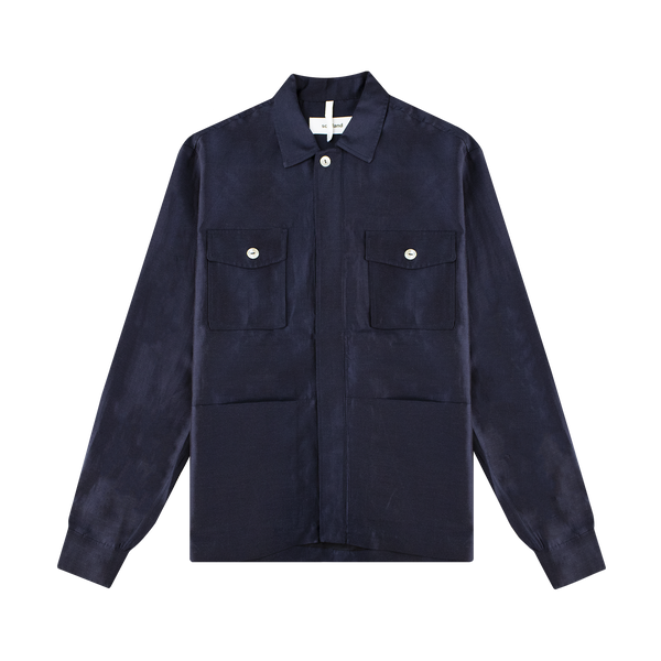 Soulland Tag Shirt 'Navy/Raw Gold'
