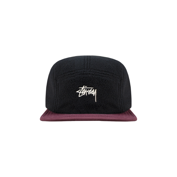 Stussy Fleece Nylon Mix Camp Cap 'Black'