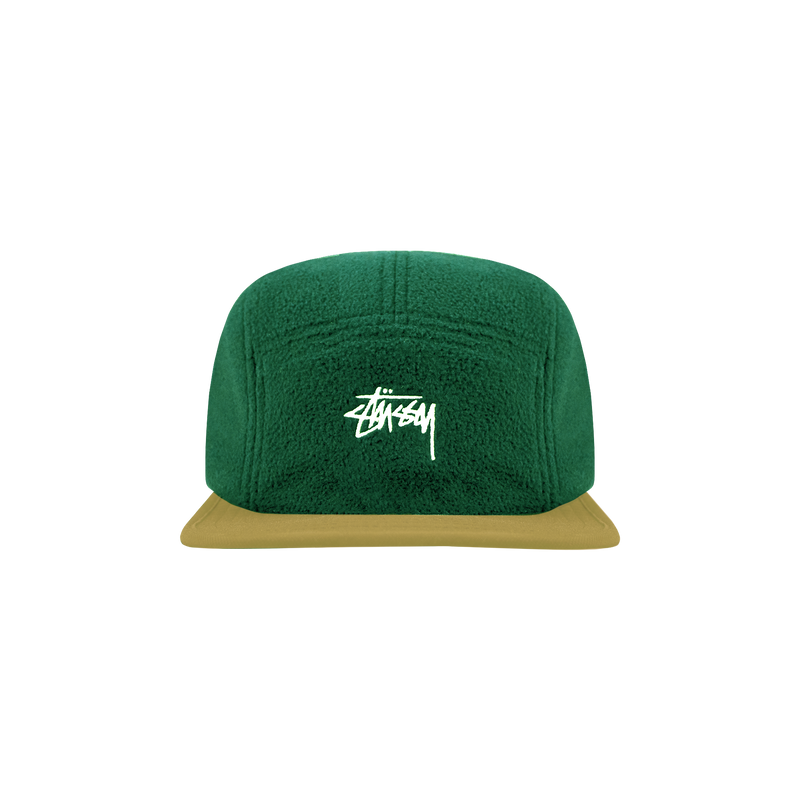 Stussy Fleece Nylon Mix Camp Cap 'Green'