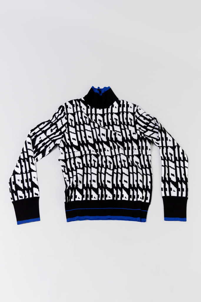 Tim Coppens ACID Jacquard Mockneck [Black/White]