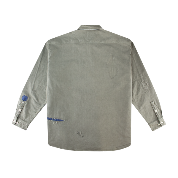 Visvim Grand River L/S Shirt 'Olive'
