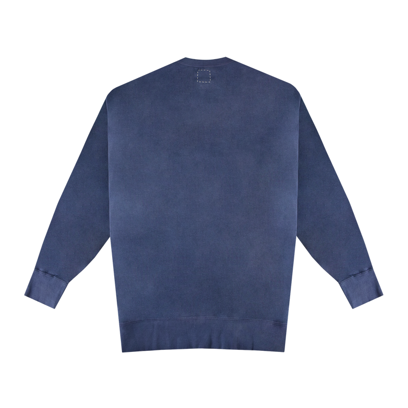 Visvim Jumbo Uneven Dyed Sweater [Navy]