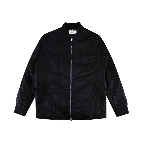 Acne Studios Nylon Bomber Jacket [BLACK]