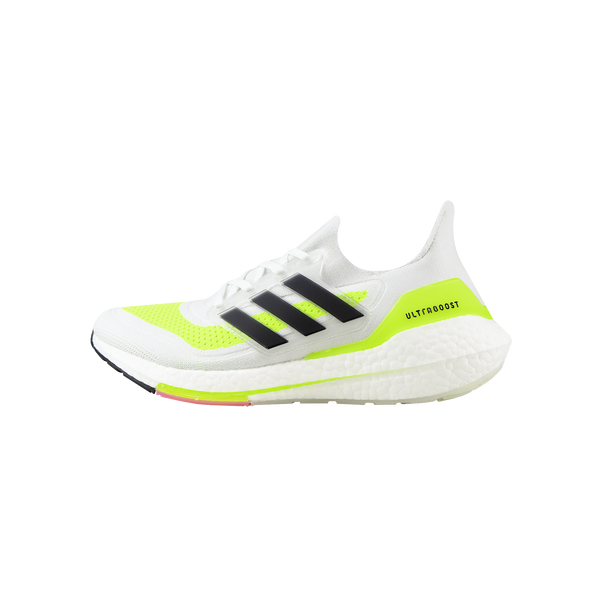 adidas Ultraboost 21 'White/Core Black/Solar Yellow'