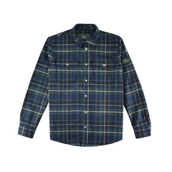 Aime Leon Dore x Woolrich Plaid Button Shirt [Mariner Green]