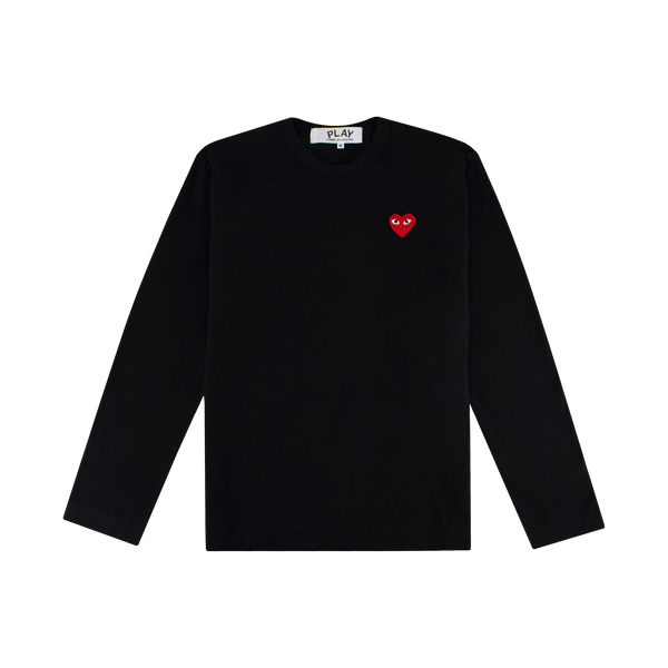 Comme des Garcons PLAY L/S T-Shirt [Black/Red]
