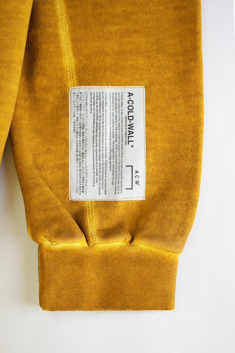 A-COLD-WALL* Overlock Crewneck [Mustard]