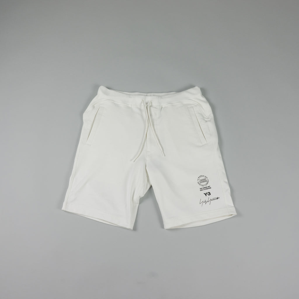 Y-3 Graphic Shorts [White]