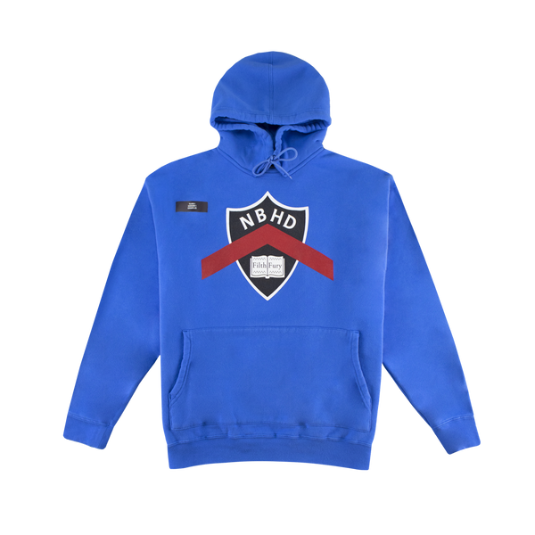 Neighborhood Crew Hooded Sweatshirt [Blue]