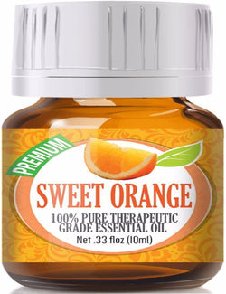 100% Pure Therapeutic Grade Sweet Orange Essential Oil
