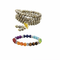 BUNDLE: Unique Mala Beads + BEST SELLING 7 Chakras Bracelet (FAST USA SHIPPING)