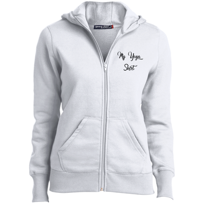 My Yoga Shirt Ladies Full-Zip Hoodie