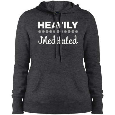 Heavily Meditated Ladies Pullover Hooded Sweatshirt