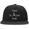I Bend So I Don't Break Flat Bill Snapback Hat