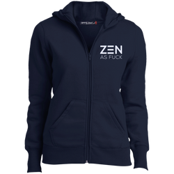 Zen As F*ck Ladies Full-Zip Hoodie