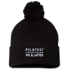 Pilates, Pies, & Lattes Pom Pom Knit Cap