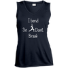 I Bend So I Don't Break Ladies 100% Polyster Moisture Absorbing V-Neck Tank