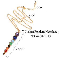 7 Chakras Healing Necklace (Choose Crystal or Nature Stone)