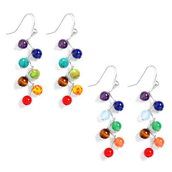 7 Chakras Healing Earrings (Choose Crystal or Nature Stone)
