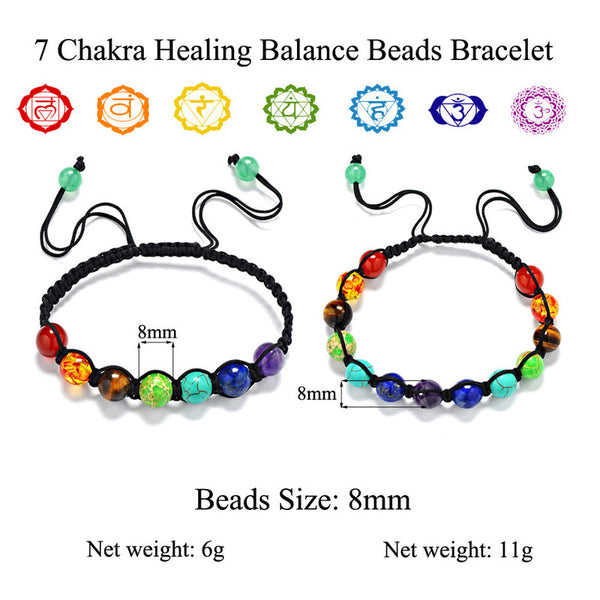 7 Chakras Healing Adjustable Bracelet