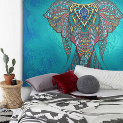Elephant Mandala Tapestry Wall Carpet (Choose Your Print)