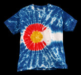 Youth Tie Dye Colorado Flag© T-Shirt