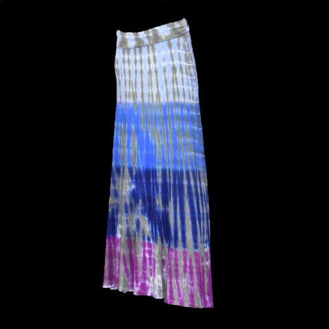 True Blue Knee Spiral Tie Dye Yoga Pants