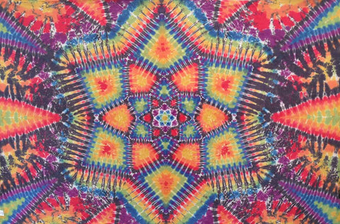 12 POINT LOTUS MANDALA TAPESTRY