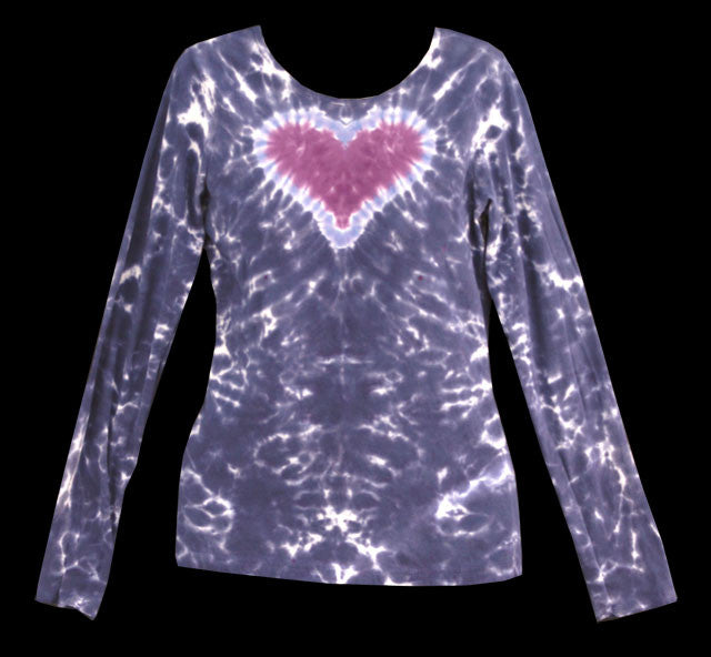 Women's Midnight Love Tie Dye Long Sleeve
