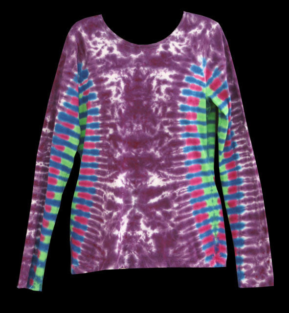 Women's Purple Light Show Tie Dye Long Sleeve