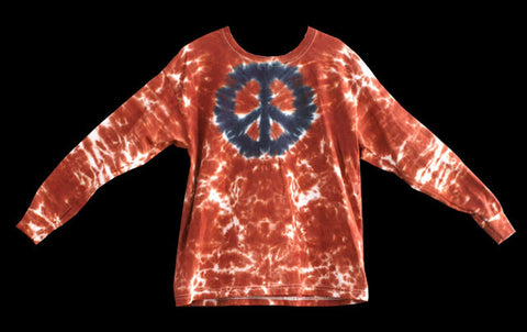 Youth Long Sleeve Volcano Tie Dye