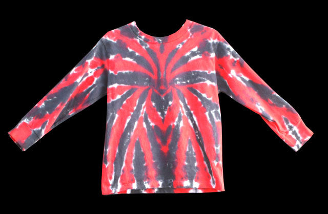 Youth Long Sleeve Spider Tie Dye