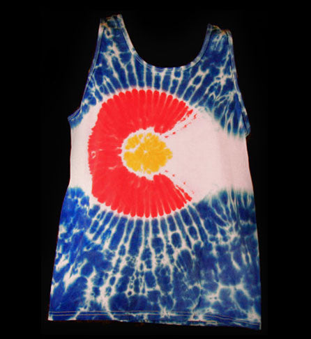 Tie Dye Colorado Flag© Tank Top