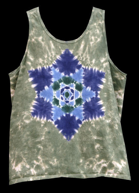 Men's Evening Star Mandala Tie Dye Tank