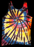 Men's Urban Rainbow Tie Dye Tank