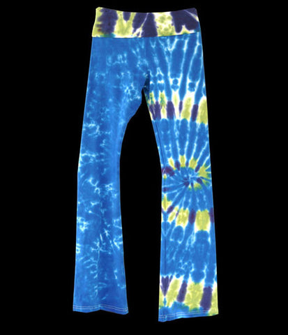 Grey Flair Tie Dye Yoga Pants
