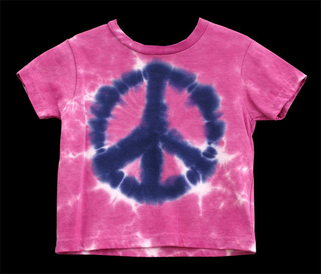 Youth Pink Peace Tie Dye T-Shirt
