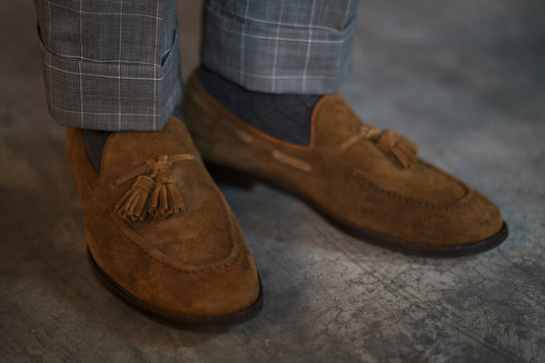 How to Wear Suede Loafers