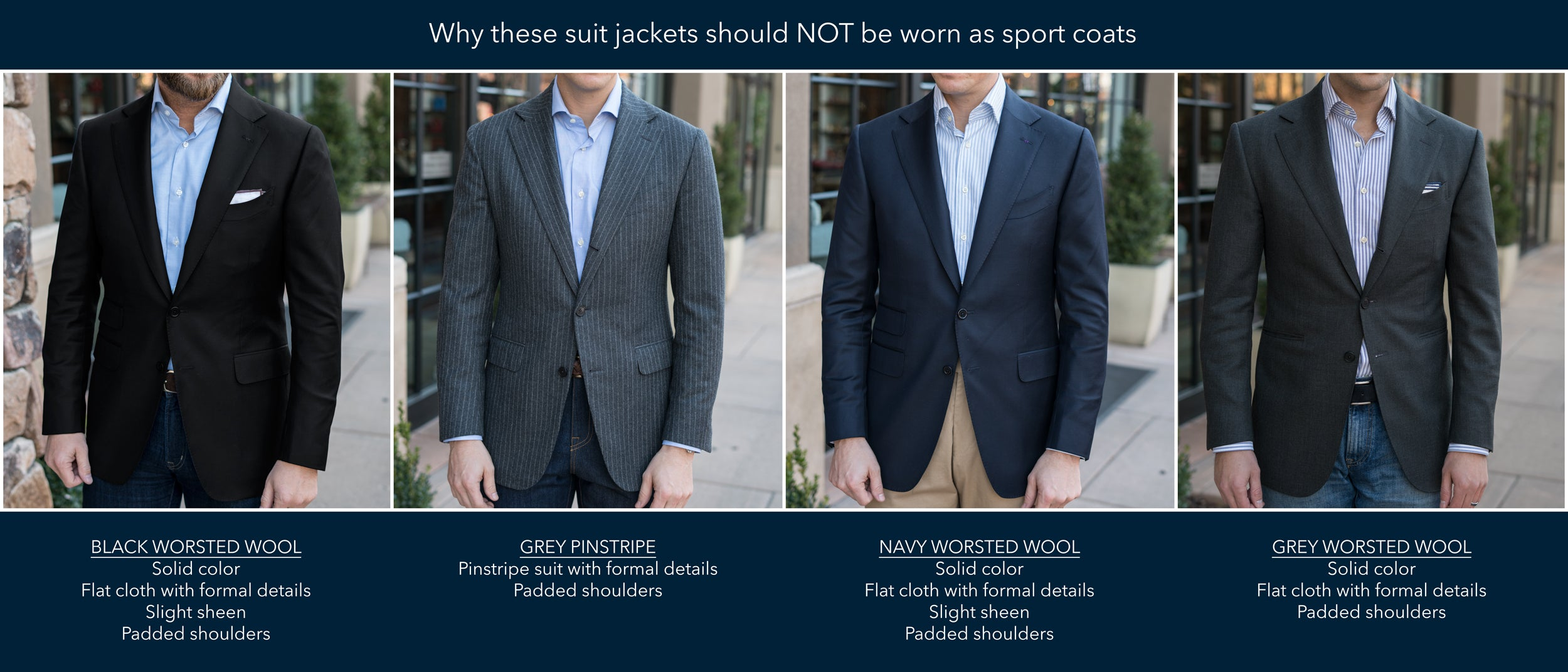 How NOT to wear a suit jacket as a sport coat