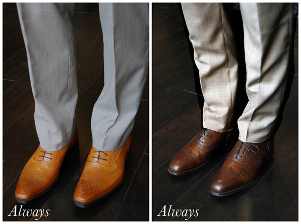 just remember if you do make sure that your belt is also black it is also recommended that you match your watch to your shoes and belt