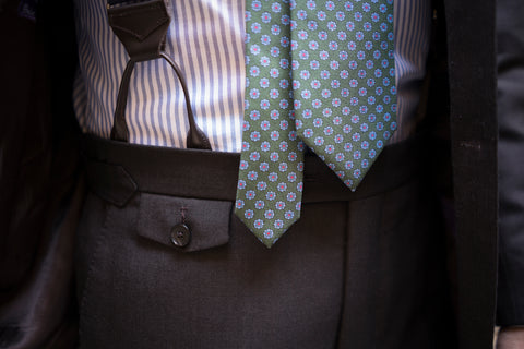 Close Up Suspenders Brown Holland & Sherry Crispaire