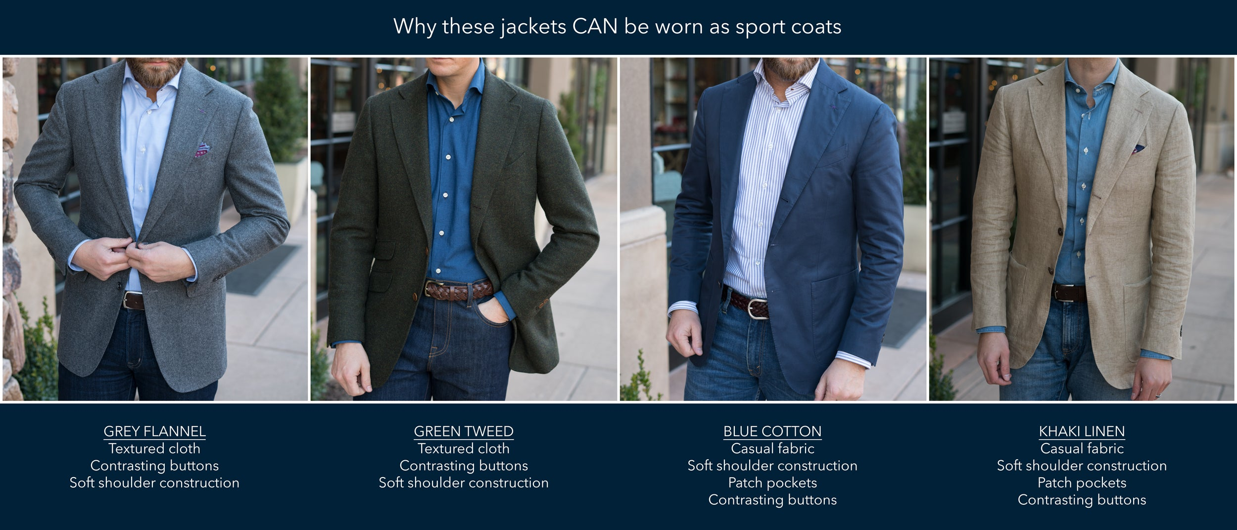 Can I wear my suit jacket as a blazer?