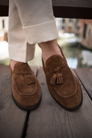 Snuff Brown Verona Suede Loafer