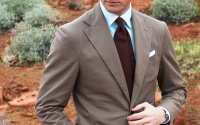 Clay Brown Cotton Suit - Beckett & Robb