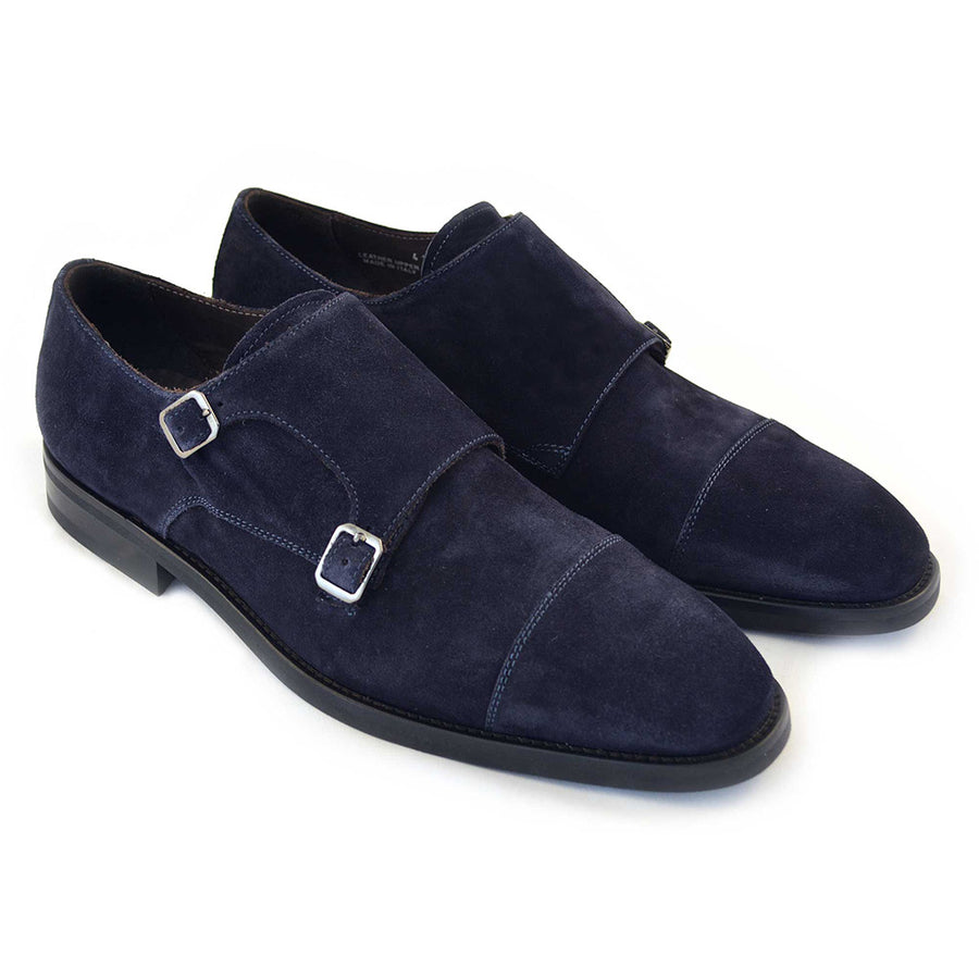 Regent Navy Double Monk Strap